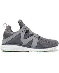 Athletic Propulsion Labs Ascend Melierte Sneakers Aus Gummi Und Mesh - Grau