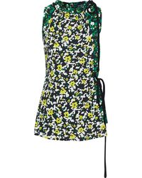 Proenza Schouler Layered Floral-print Crepe Top Größe 8 - Multicolour
