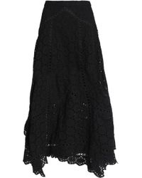 Zimmermann - Broderie Anglaise Cotton Midi Skirt - Lyst
