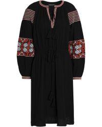 Antik Batik - Mobi Embroidered Cotton-gauze Dress - Lyst
