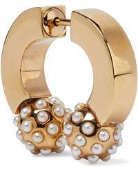Chloé Chloé Darcey Gold-tone Swarovski Pearl Earring Gold - Metallic