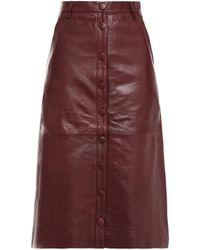 REMAIN Birger Christensen Bellis Leather Skirt - Multicolour