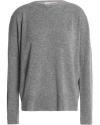 Christopher Kane - Metallic-trimmed Mélange Wool-blend Sweater - Lyst