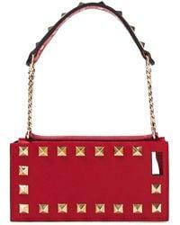 Valentino Garavani Rockstud Leather Iphone 5, 5s And 5se Case - Red