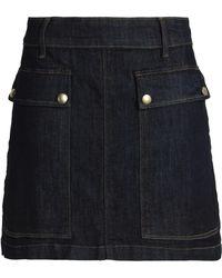 FRAME - Denim Mini Skirt Dark Denim - Lyst