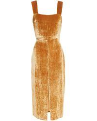 Reformation Velvet Midi Dress - Multicolour