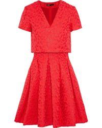 Maje - Roleo Pleated Metallic Jacquard Dress - Lyst