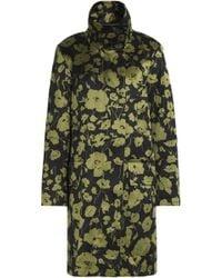 Michael Kors - Floral-print Cotton And Silk-blend Coat - Lyst