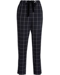 Claudie Pierlot - Checked Crepe Tapered Trousers - Lyst