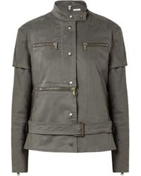 Tomas Maier Convertible Cotton-blend Jacket Army Green