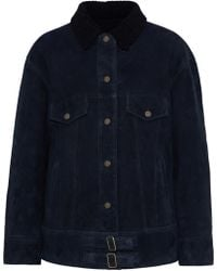 Meteo by Yves Salomon - Shearling-trimmed Suede Jacket - Lyst