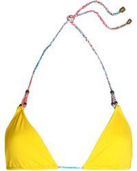 Heidi Klum - Sun Muse Triangle Bikini Top - Lyst