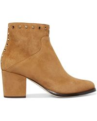 Jimmy Choo - Melvin 65 Studded Suede Ankle Boots - Lyst