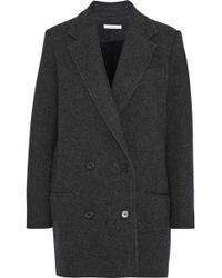 IRO - Woman Kalso Double-breasted Wool-blend Twill Coat Anthracite - Lyst