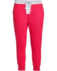 Zoe Karssen - Lace-up French Cotton-terry Track Pants - Lyst