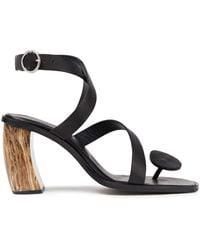 Rodebjer Amira Leather Sandals - Black