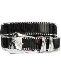 IRO Jalla Whipstitched Studded Leather Belt - Black