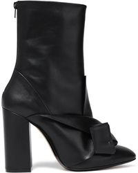 N°21 Knotted Leather Boots Black
