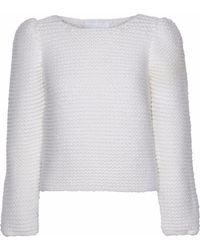Co. - Bouclé-knit Merino Wool Sweater - Lyst
