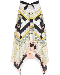 Temperley London Obelisk Bow-detailed Printed Woven Skirt - Natural