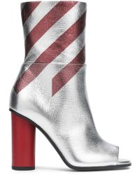 Anya Hindmarch | Metallic Striped High Boot | Lyst