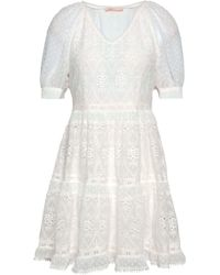 Maje Revery Broderie Anglaise Voile Mini Dress Ivory