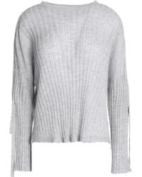 Helmut Lang - Ribbed-knit Cashmere Top Light Grey - Lyst