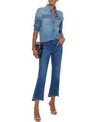 J Brand Selena faded mid-rise kick-flare jeans - Blau