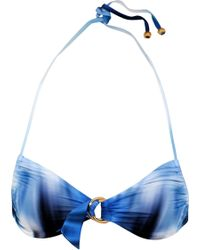 Roberto Cavalli - Printed Halterneck Bikini Top - Lyst