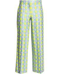 Emilio Pucci Brocade Straight-leg Trousers Pastel Yellow