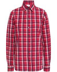 3f4cc54e Stella Jean - Woman Checked Cotton-seersucker Shirt Red - Lyst