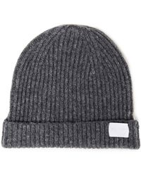 RE/DONE Mélange Ribbed-knit Beanie - Grey