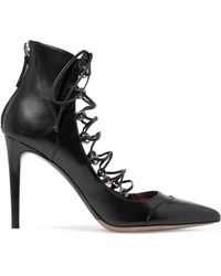 Tabitha Simmons - Woman Yana Lace-up Leather Pumps Black - Lyst
