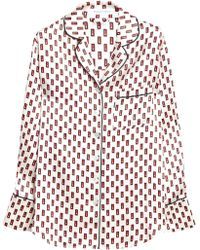 Olivia Von Halle - Printed Silk-satin Pyjama Set - Lyst