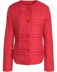 Love Moschino - Woman Quilted Shell Down Coat Red - Lyst