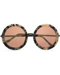 Sunday Somewhere Isabella Round-frame Acetate Sunglasses Cream - Multicolour