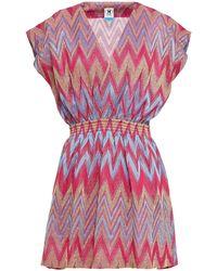 M Missoni Metallic Crochet-knit Mini Dress - Multicolour