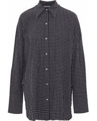 Helmut Lang - Gingham Cotton And Wool-blend Shirt - Lyst
