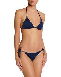 Heidi Klum Embellished Low-rise Bikini Briefs - Blue
