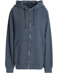 T By Alexander Wang - Cotton-terry Hooded Sweatshirt - Lyst