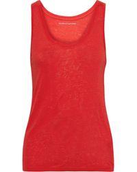 Majestic Filatures Slub Linen-jersey Tank Tomato Red