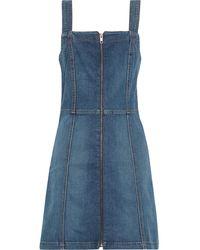 Reformation Randy Denim Mini Dress Mid Denim - Blue