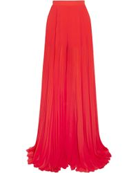 Elie Saab - Woman Wide Leg Trousers Red - Lyst