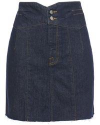 FRAME Denim Mini Skirt Dark Denim - Blue
