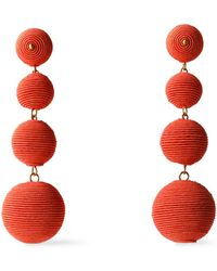 Kenneth Jay Lane - Gold-tone Cord Earrings - Lyst