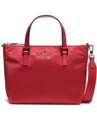 Kate Spade Watson Lane Lucie Leather-trimmed Shell Shoulder Bag Red