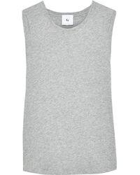 G. Label by goop Mélange Cotton-jersey Tank Stone - Gray