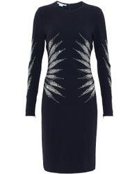Stella McCartney - Studded Crepe Dress - Lyst