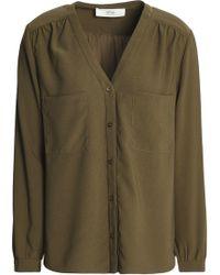 Vanessa Bruno Athé - Crepe Blouse Army Green - Lyst