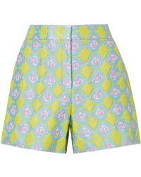 7c8768eb86a9 Emilio Pucci - Woman Jacquard Shorts Pastel Yellow - Lyst